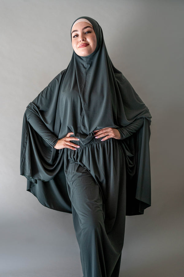 Jilbab Prayer Set - 13 Olive
