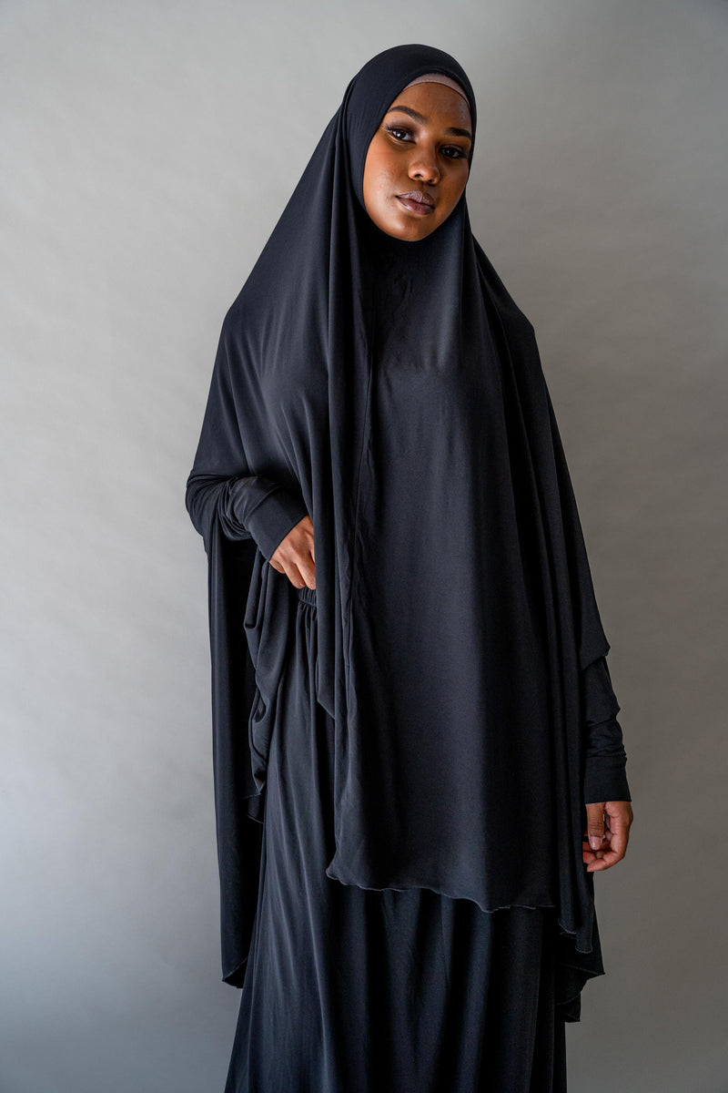 Jilbab Prayer Set - Black