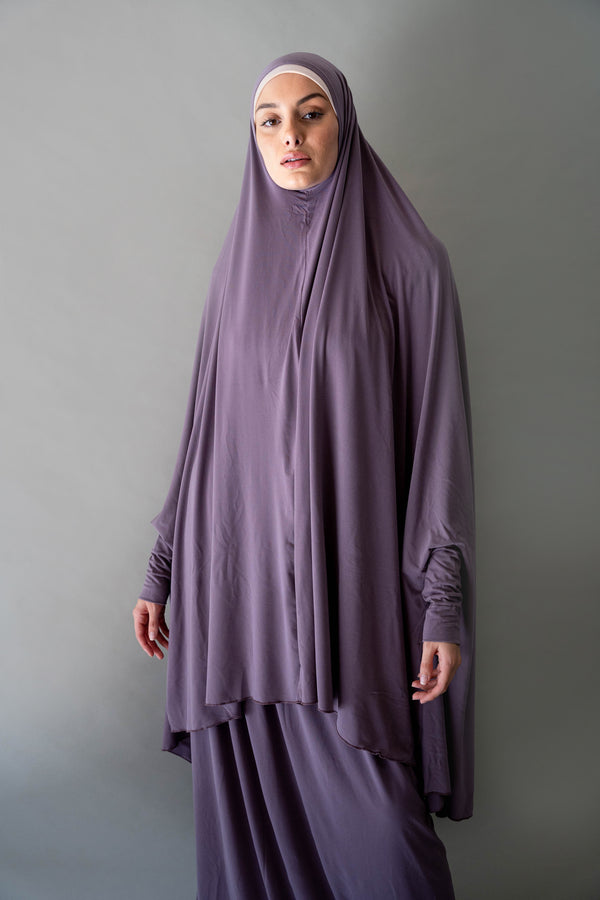 Jilbab Prayer Set - Purple Sage