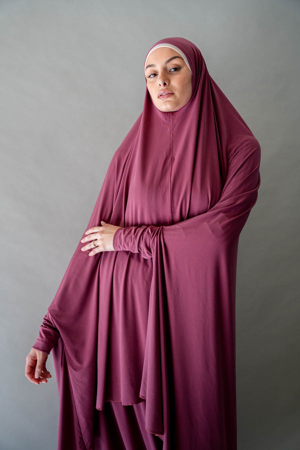 Jilbab Prayer Set - Rosewood
