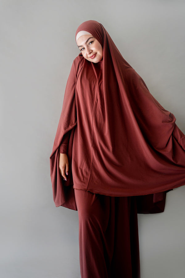 Jilbab Prayer Set - Sable