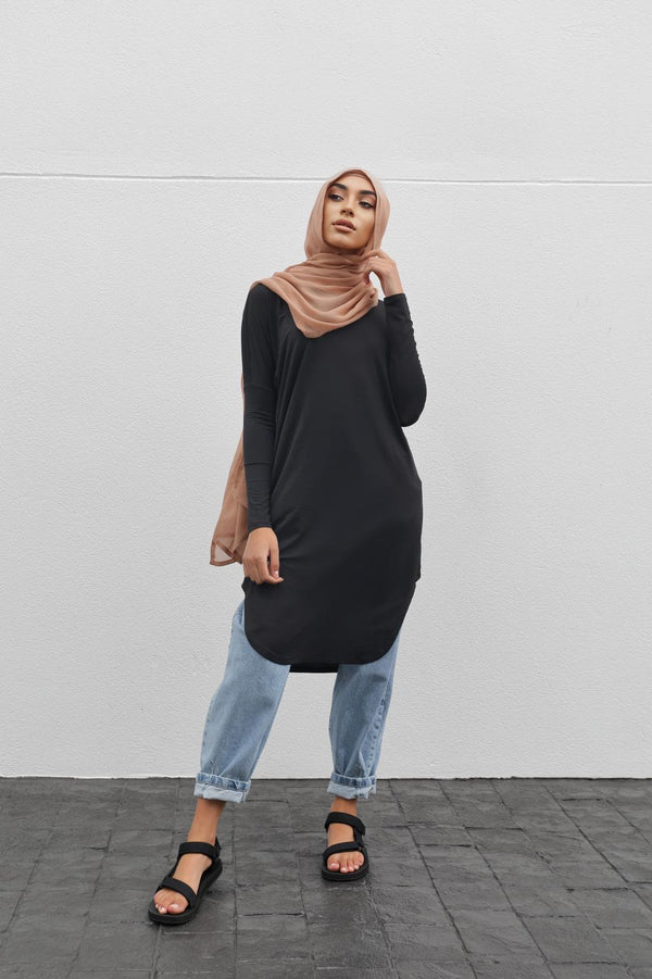 Lux Midi Staple Top - Black