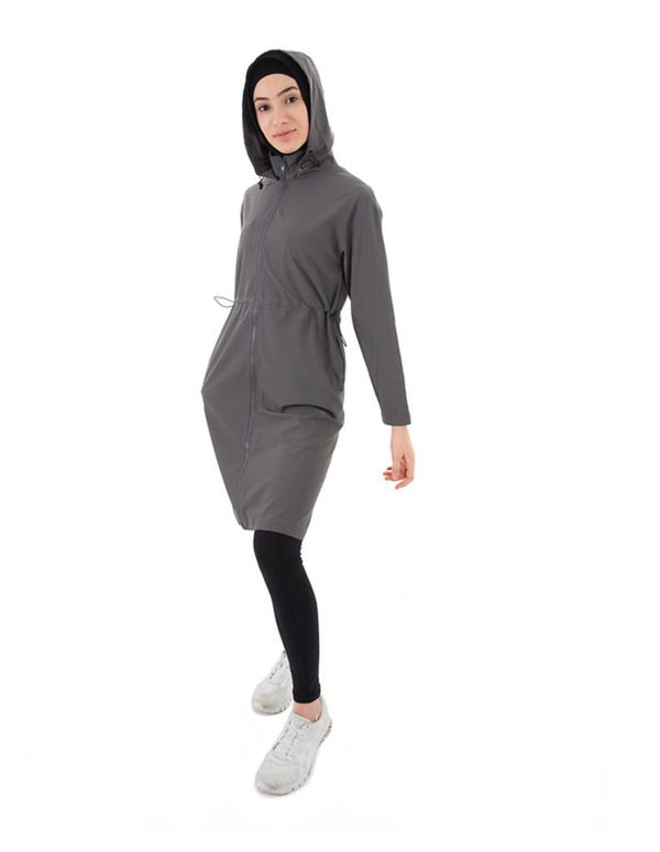 MED-101 - Medina Long Trench - Charcoal