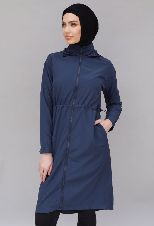 Medina Long Trench - Navy