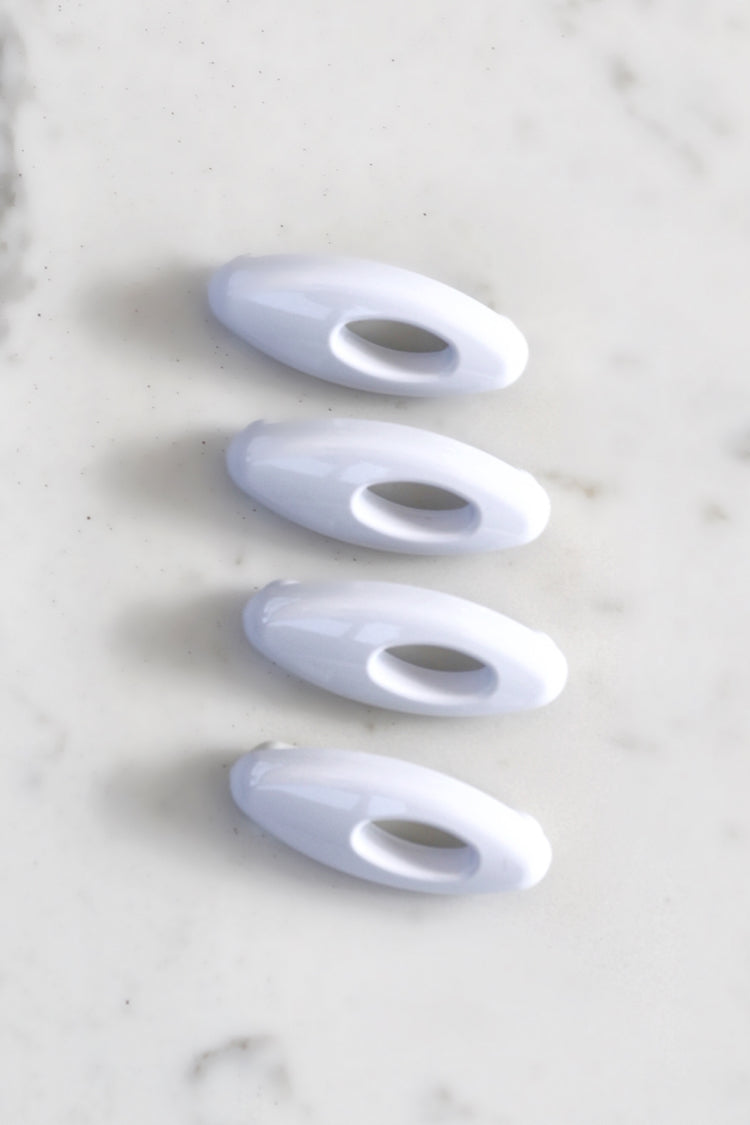 Safety Pins Pack Of 4 - White