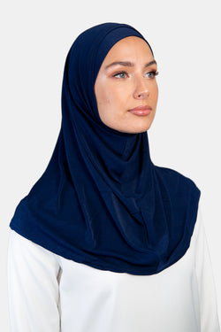 WOL2H-Womens Lycra 2pc Hijab 18-5-5S_Navy
