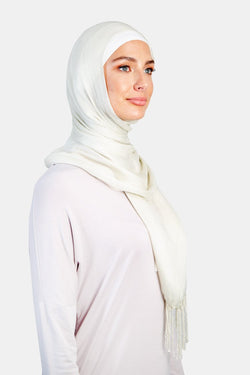 WOPCS-Womens Plain Cotton Shawls -307_Beige (2934802219072)