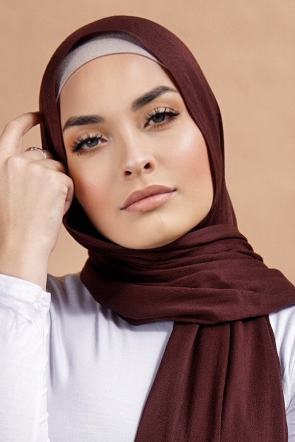 BNAH029 - Viscose Tassel Hijab - 37 Brown