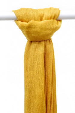 WOPCS-Womens Plain Cotton Shawls A5-18A_Gold (2934799401024)
