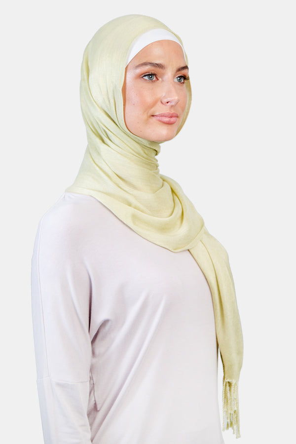 WOPCS-Womens Plain Cotton Shawls -259_Green (2934800154688)