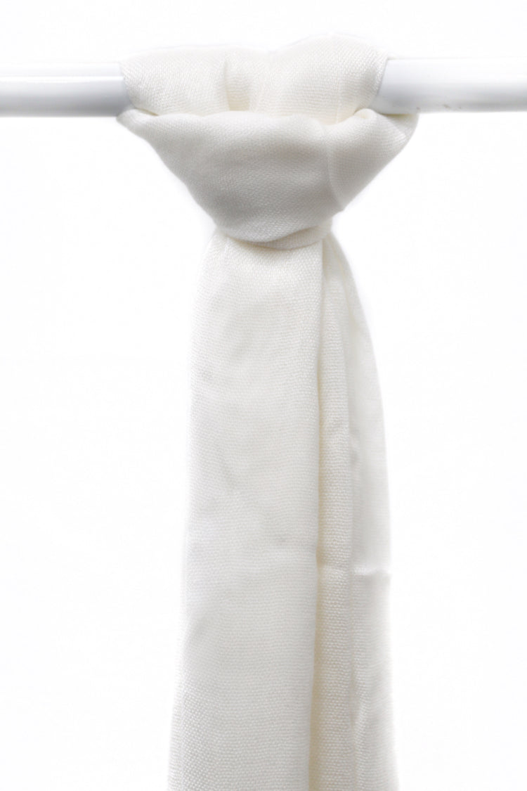 Viscose Tassel Hijab - 1 Off White