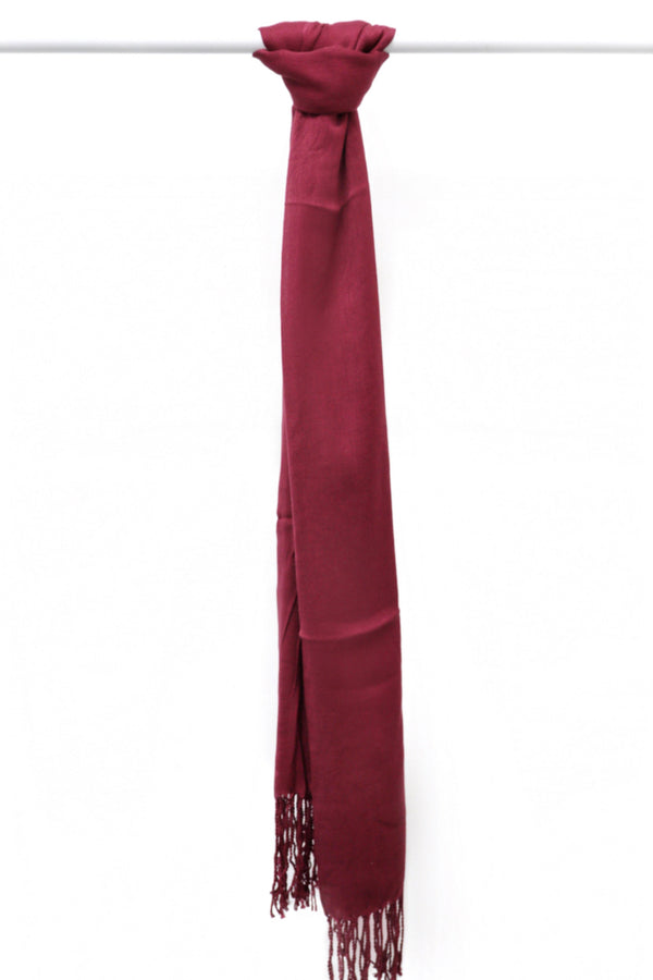 WOPCS - Womens Plain Cotton Shawls 38C_Burgandy