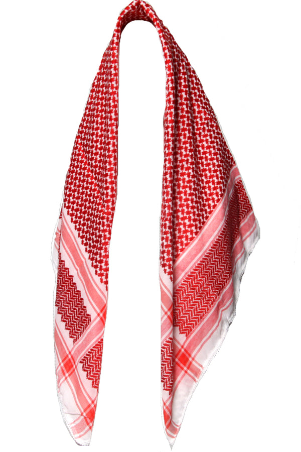 mekaf-Large Print Kafiya-red_white