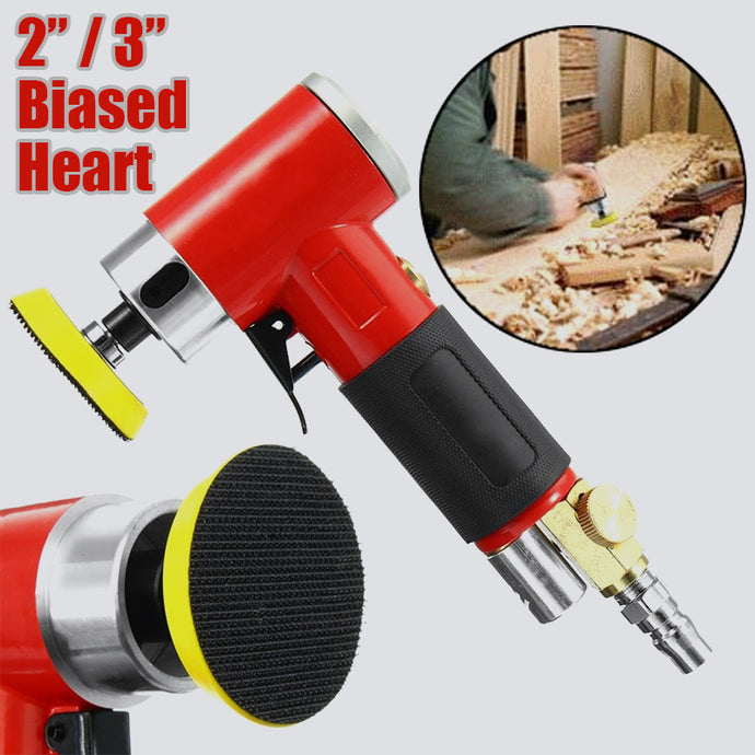 2 / 3 Inch Biased Heart High-speed Mini Pneumatic Sanding Machine with Push Switch and Sanding Pad for Polishing | Grinding