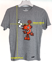 BLOW YOUR NOSE ORGANIC MINI T-SHIRT ON MARL GREY