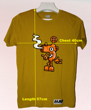 BLOW YOUR NOSE MINI T-SHIRT ON ORGANIC CAMEL