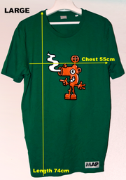 BLOW YOUR NOSE T-SHIRT ON ORGANIC VARSITY GREEN