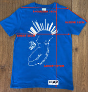 CAMDEN 'SHY' MINI TEE ROYAL BLUE