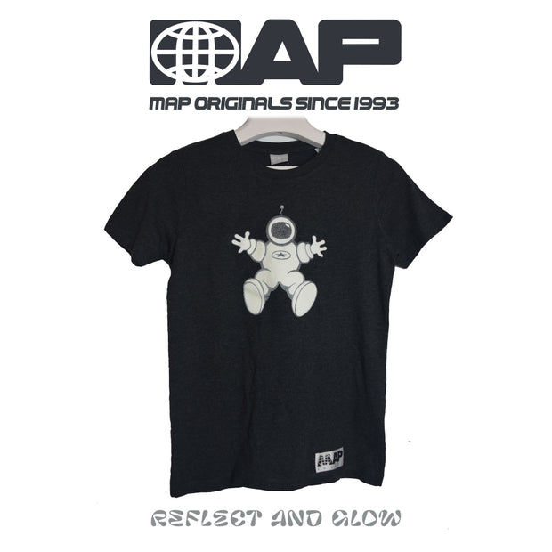 ASTRONORTH ORGANIC MINI T-SHIRT ON MARL CHARCOAL