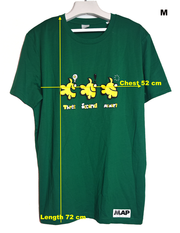 THREE SECOND MEMORY TEE ON ORGANIC VARSITY GREEN