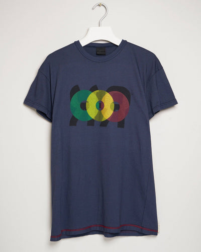 """PLATE 2 NAVY"" t-shirt by MAP London"