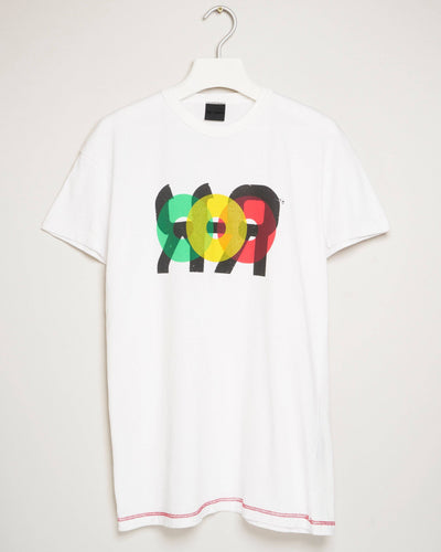 """PLATE 2 WHITE"" t-shirt by MAP London"