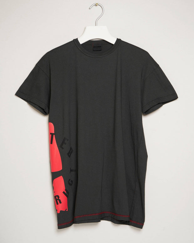 """UNITED KONSTRUCT STAMP CHARCOAL"" t-shirt by MAP London"