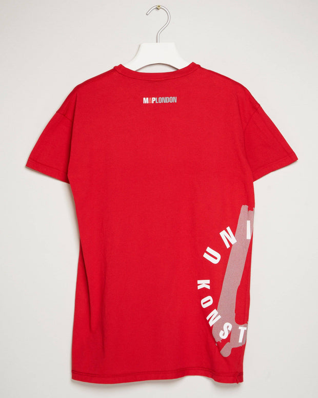 """UNITED KONSTRUCT STAMP RED"" t-shirt by MAP London"