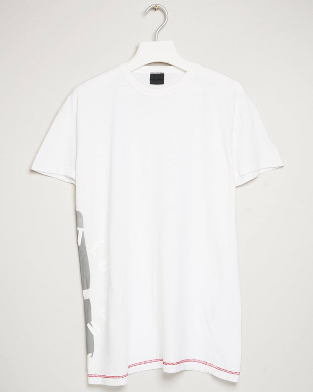 """UNITED KONSTRUCT STAMP WHITE"" t-shirt by MAP London"