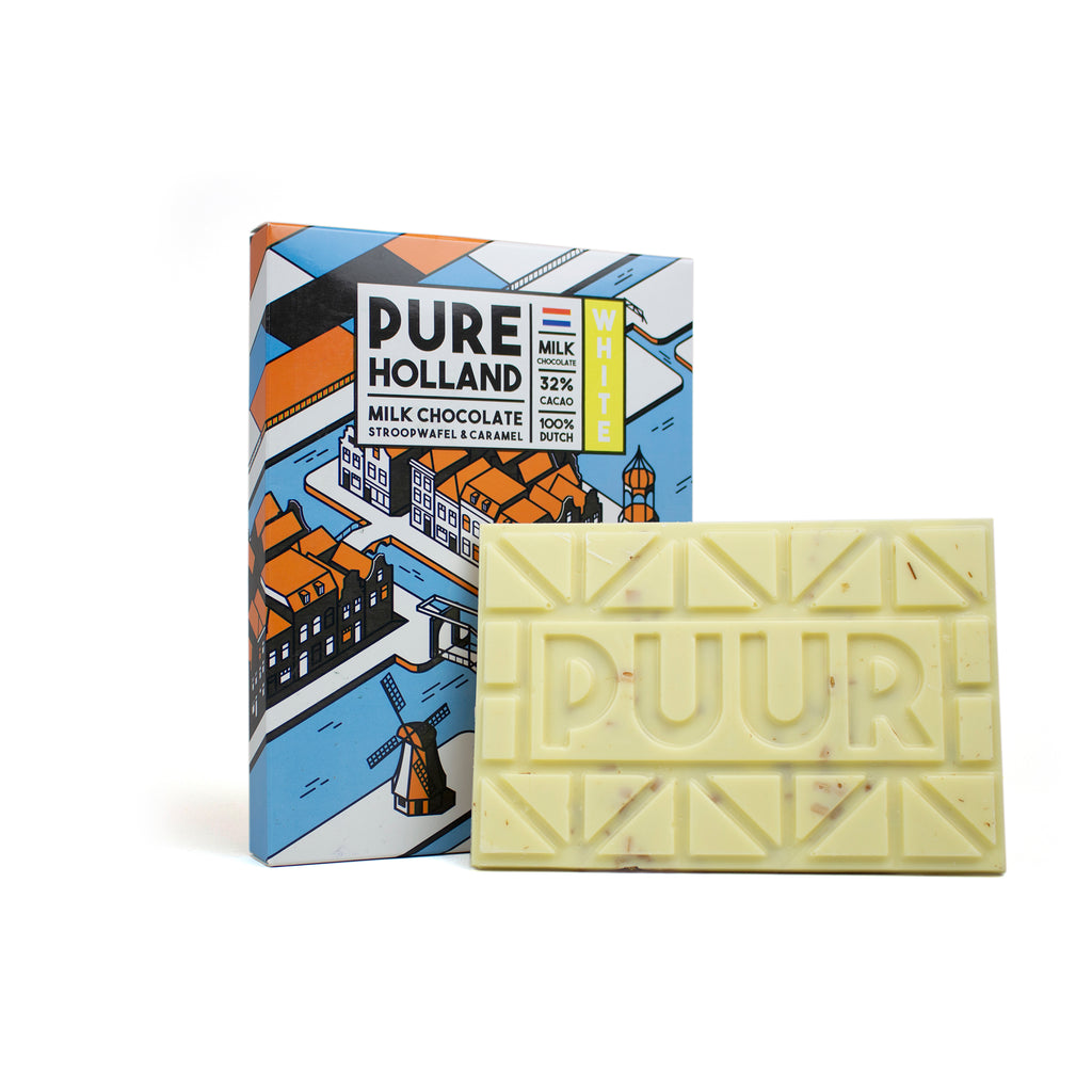 PURE Holland witte chocolade (150 gram)