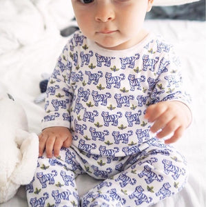 Baby Pajama Imi - Tiger by Brai - Blue