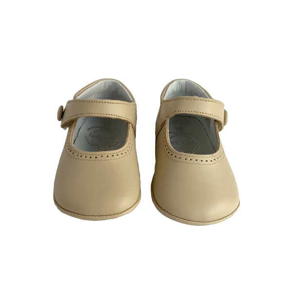 Pre-Walker Girl Shoes by Beberlis - Beige