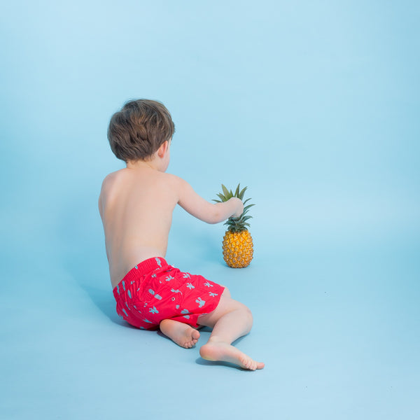 Swimsuit for Boy by Happy Duck - Red Cactus