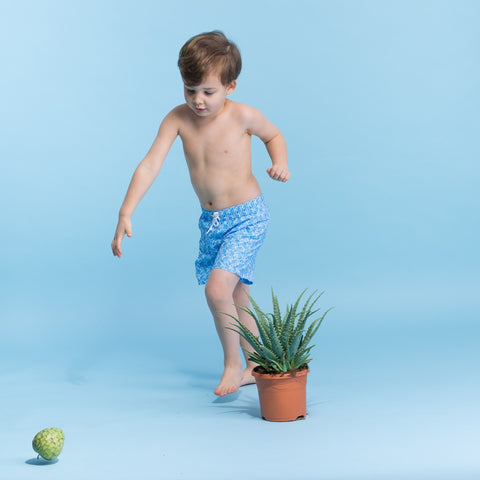 Swimsuit for Boy by Happy Duck - Blue Zebra