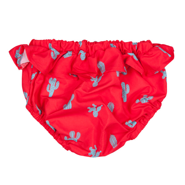 Swimsuit bloomer for girl  by Happy Duck - Red Cactus