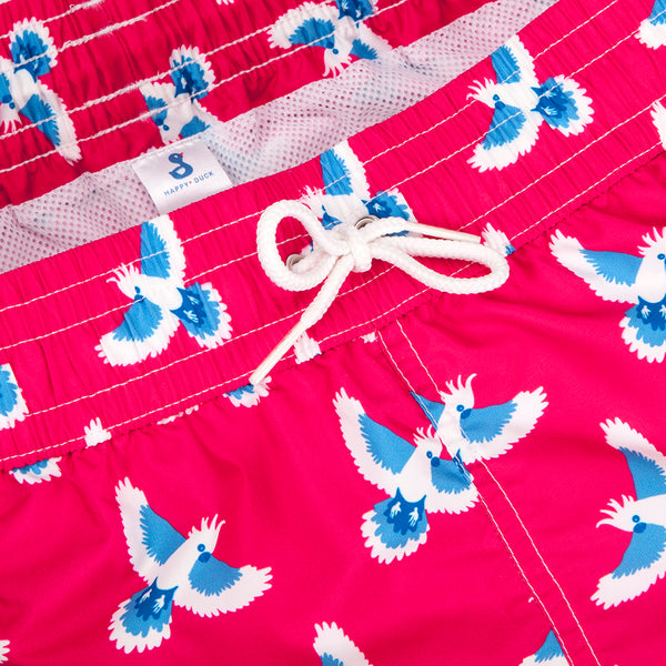Swimsuit for Boy by Happy Duck - Red Flying Parrot