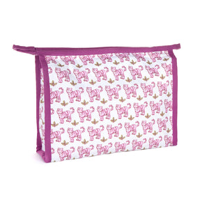 Vanity case FONTANA - Tiger by Brai - Pink