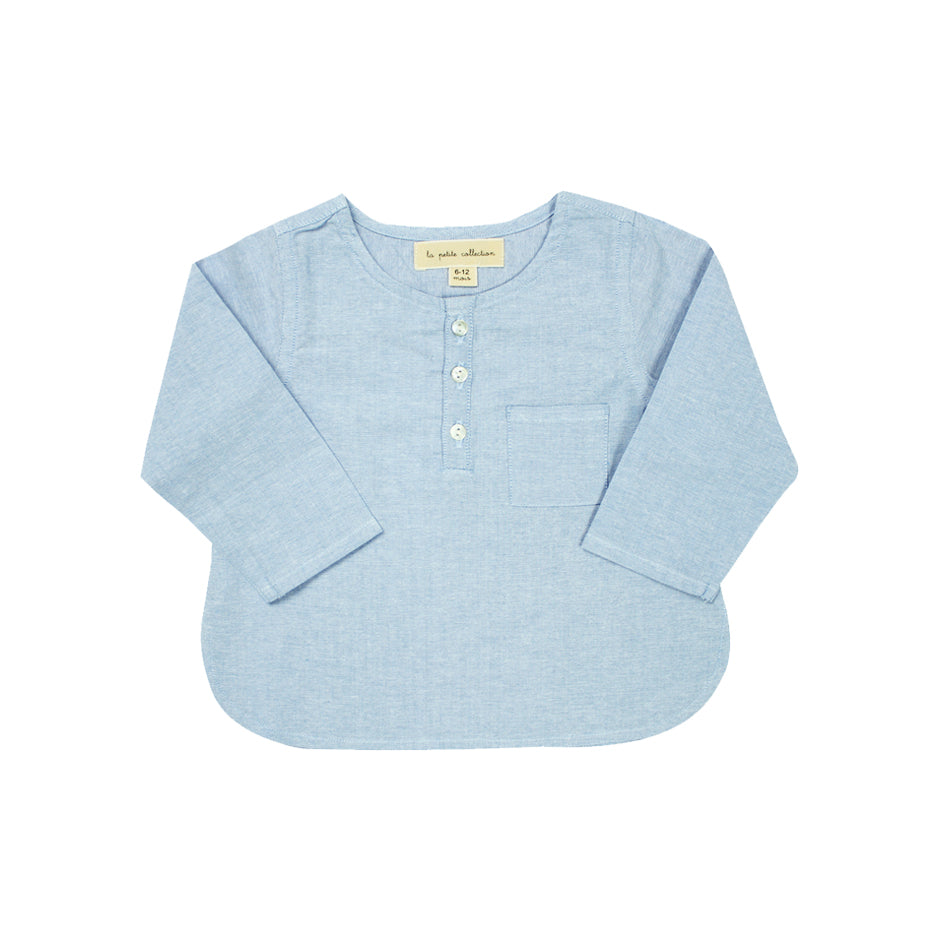Blouse Kurta by La Petite Collection - Blue Chambray