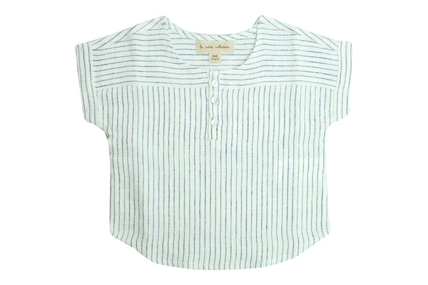 Blouse T by La Petite Collection - Blue Chambray