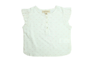 Flounced Blouse by La Petite Collection - Copper White
