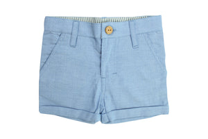 Shorts by La Petite Collection - Blue Chambray