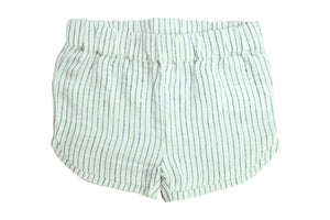 Sport Shorts by La Petite Collection - Blue Stripped Linen