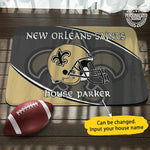 New Orleans Saints Personalized Doormat