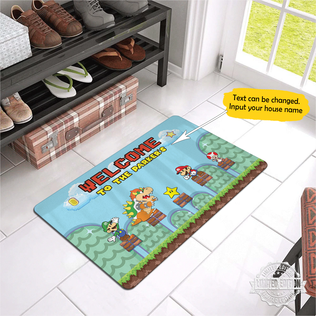 Personalized Mario Doormat