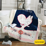 Bunny Love Personalized Blanket