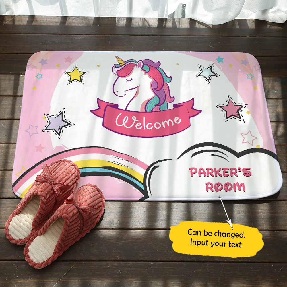 Personalized Unicorn Doormat