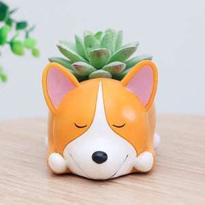 Flower Pot Corgi