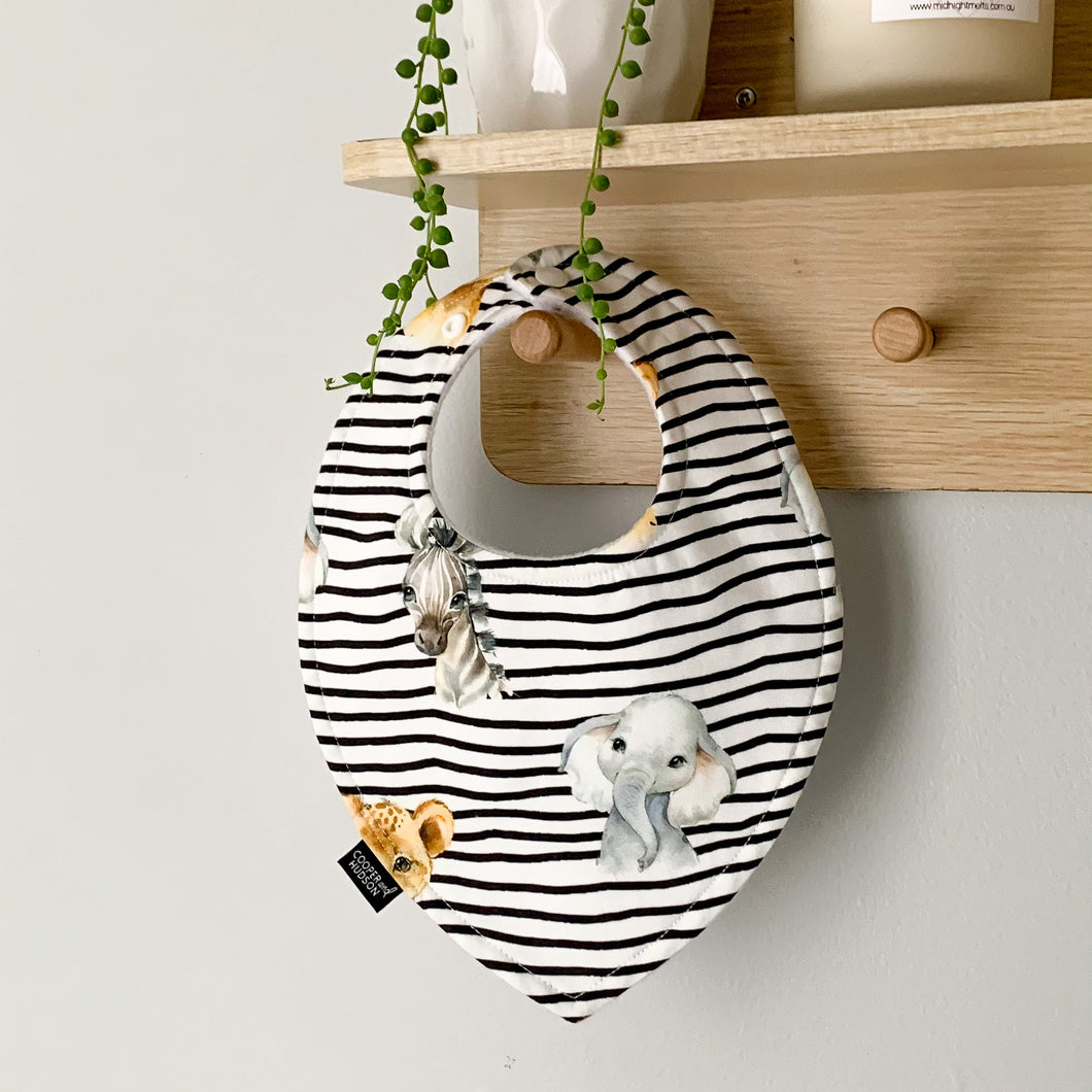 Stripe Baby Animal Bibs