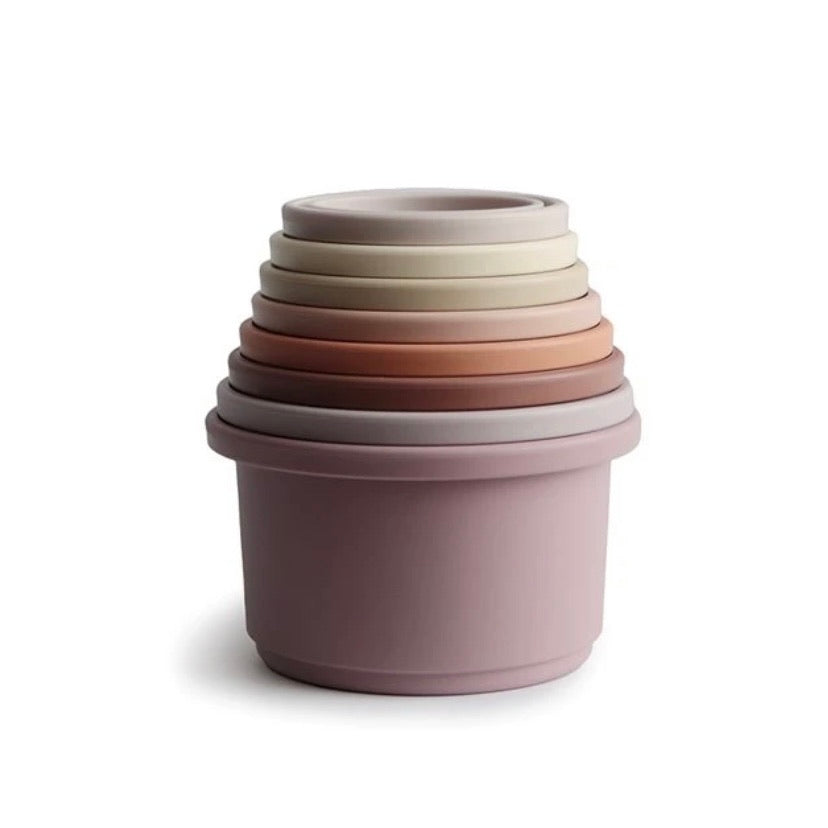 ***Pre Order*** Mushie Stacking Cups - Petal