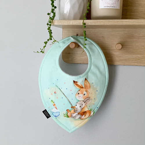 Bunny Friend Fishing Dribble Bib